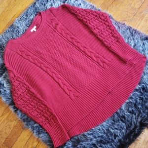 Maurices Red Knit Sweater 2 2xl